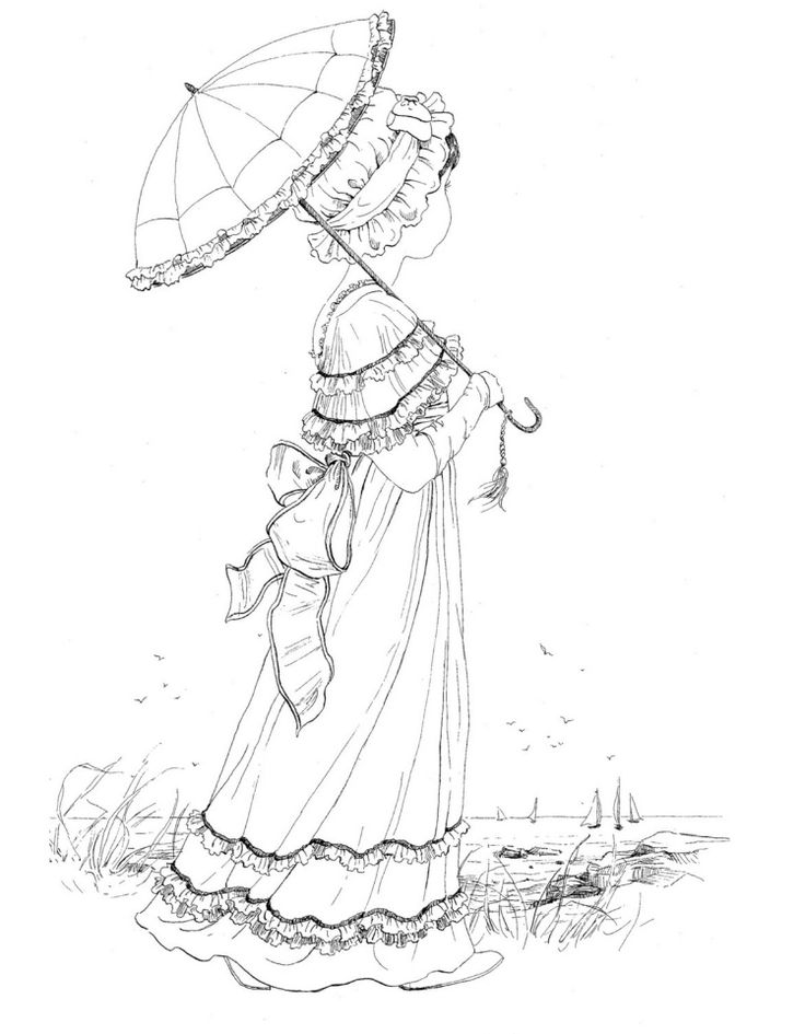 736x945 Best Adult Victorian Coloring Pages Images
