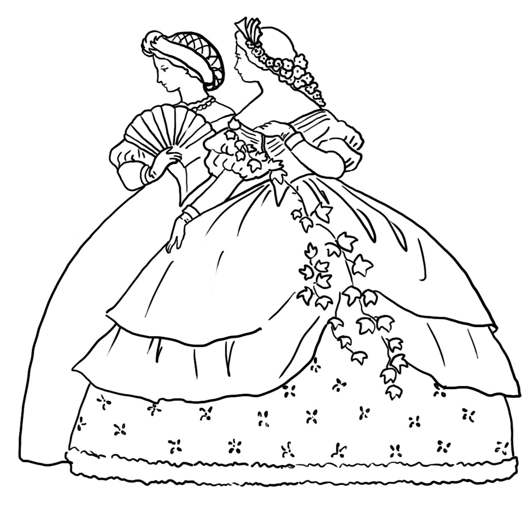 1049x1004 Victorian Printable Coloring Pictures