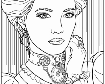 340x270 Adult Coloring Pages For Girls Collection Victorian Coloring Pages