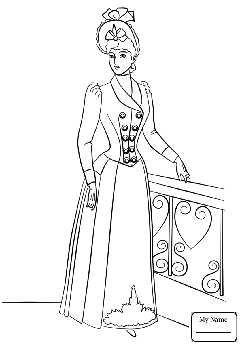 840x1210 Coloring Pages Victorian Era History Queen Victoria Inside