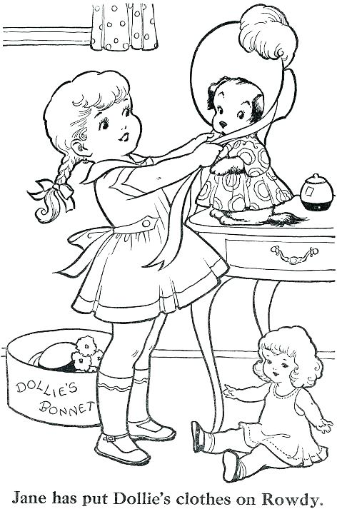 472x720 Vintage Coloring Book Pages Vintage Coloring Pages Free Vintage