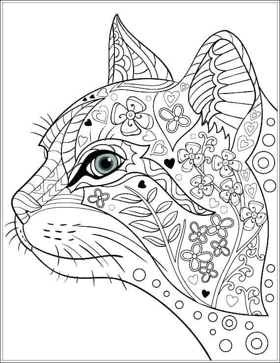 570x738 Animal Coloring Pages For Adults