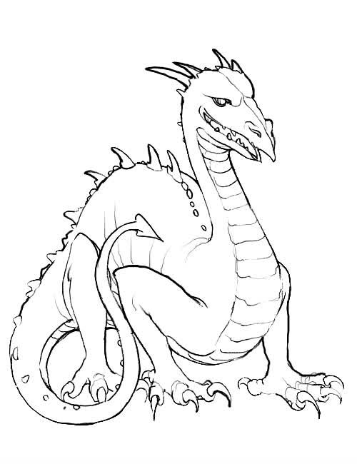 500x650 Color The Dragon Coloring Pages In Websites Kids Colouring Pages