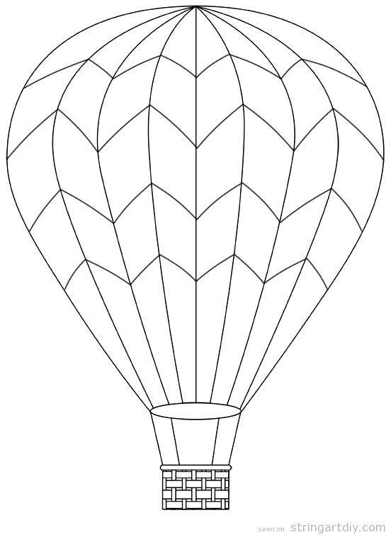 552x759 Balloon Printable Balloon Outline Hot Air Balloon Printable