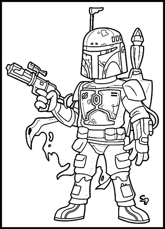 564x783 Boba Fett Coloring Pages