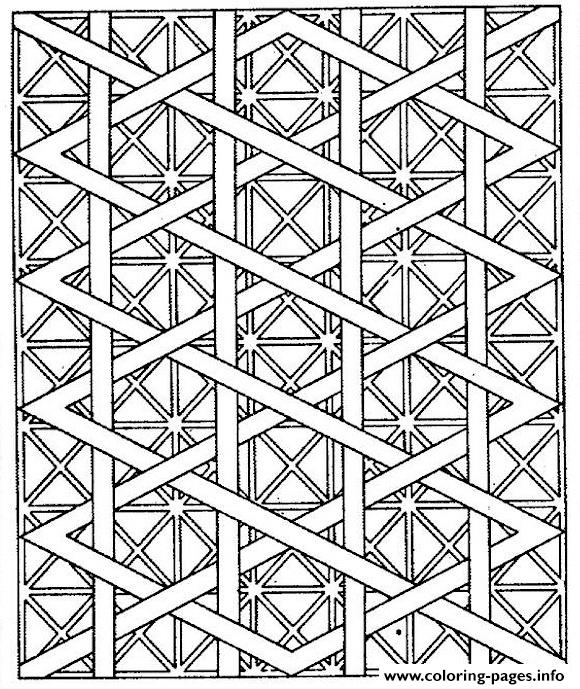 580x689 Adults Patterns Lines Coloring Pages Printable