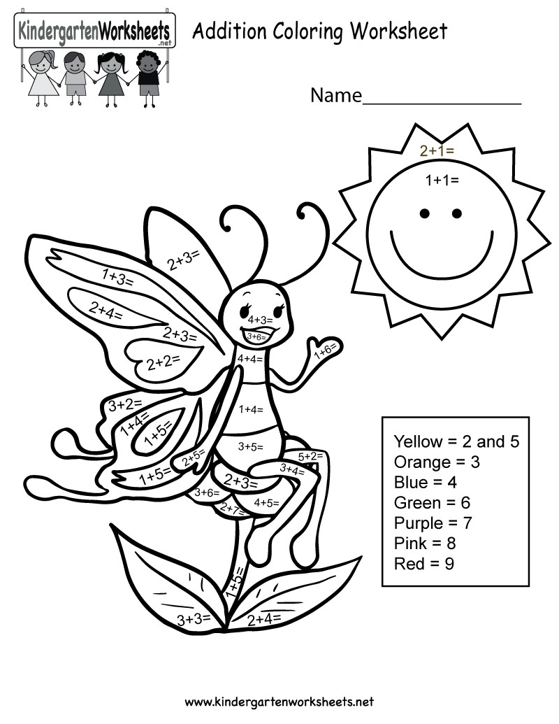 800x1035 Coloring Pages Kinder Copy Addition Worksheets Free Color Code