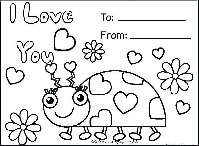 832x612 Coloring Pages With Number Codes Valentines Day Color