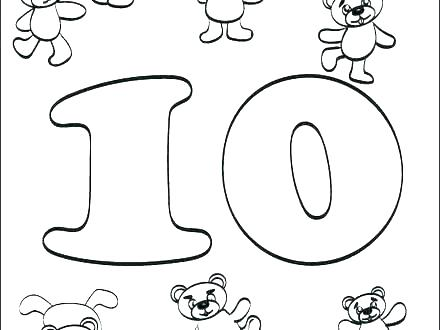 440x330 Number Coloring Pages Coloring Pages Numbers Coloring Pages