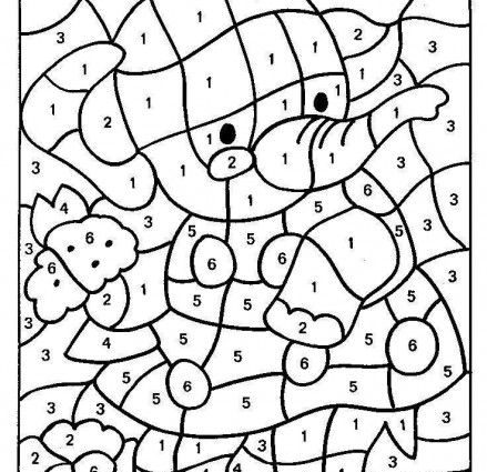 439x425 Coding Coloring Pages Coloring Pages With Number Codes Printable