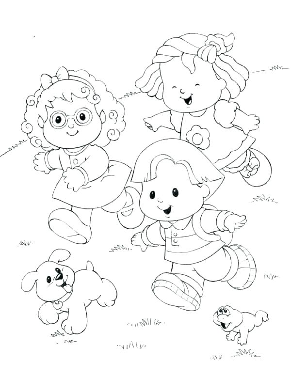 600x780 Fisher Price Coloring Pages Little People Coloring Pages Free