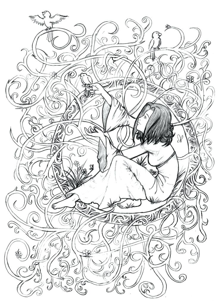 736x1013 Coloring Pages Of People Adult Coloring Pages People Scenery