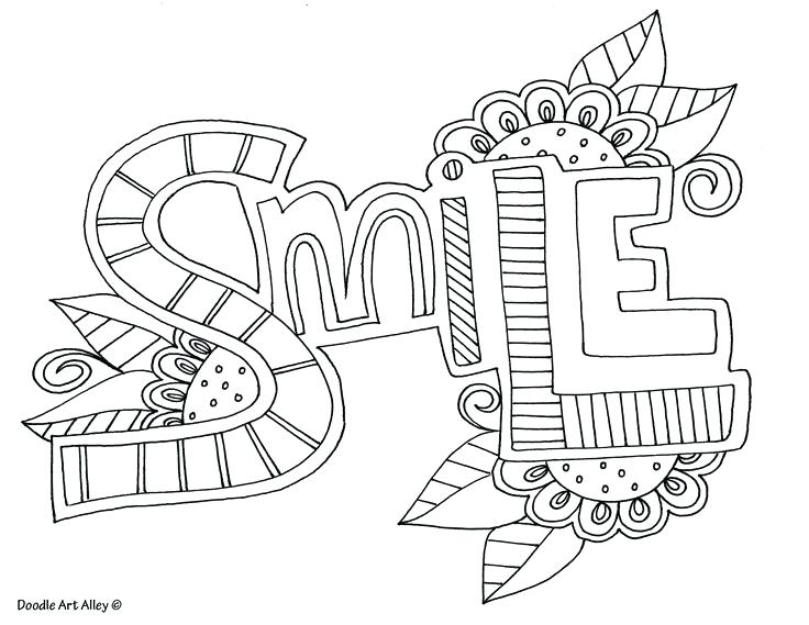 Coloring Pages With Words Printable At Getdrawings Free Download