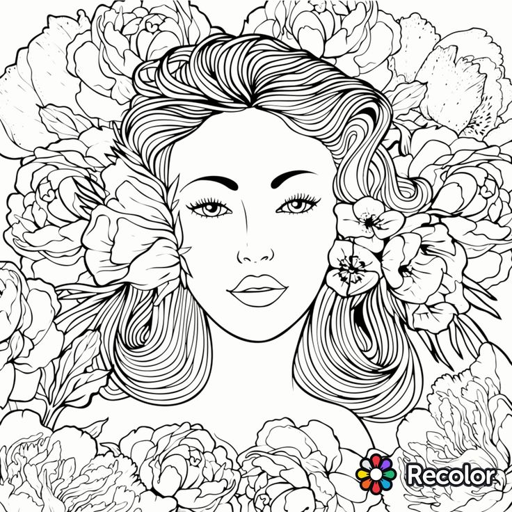 736x736 Female Coloring Pages Best Coloring Pages To Print Woman