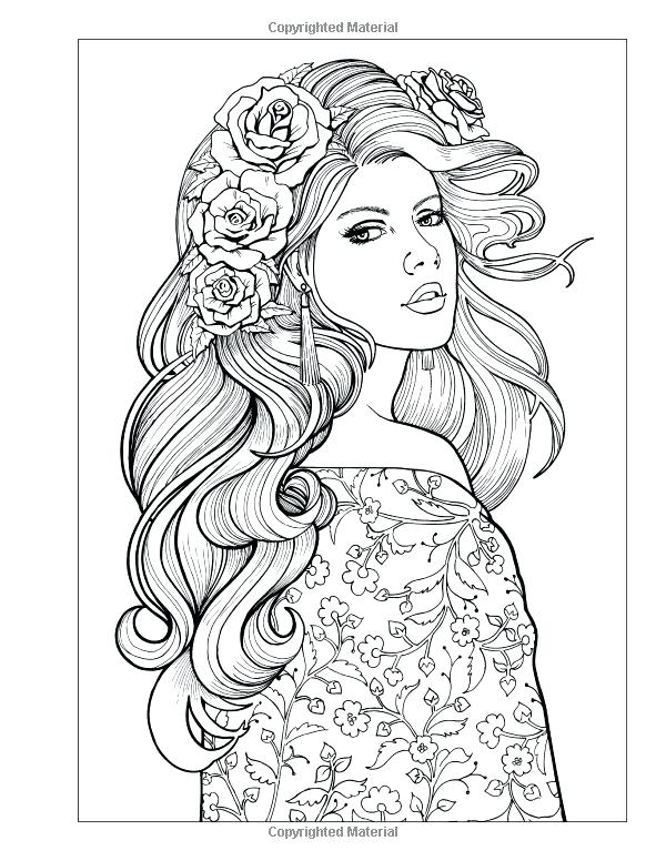 600x776 Woman Coloring Pages Woman