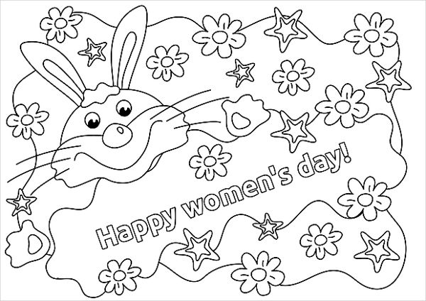 600x424 Women's Day Coloring Pages Free Premium Templates
