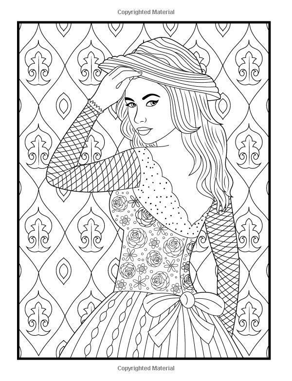600x783 Adult Coloring Pages Patterns Women Printable