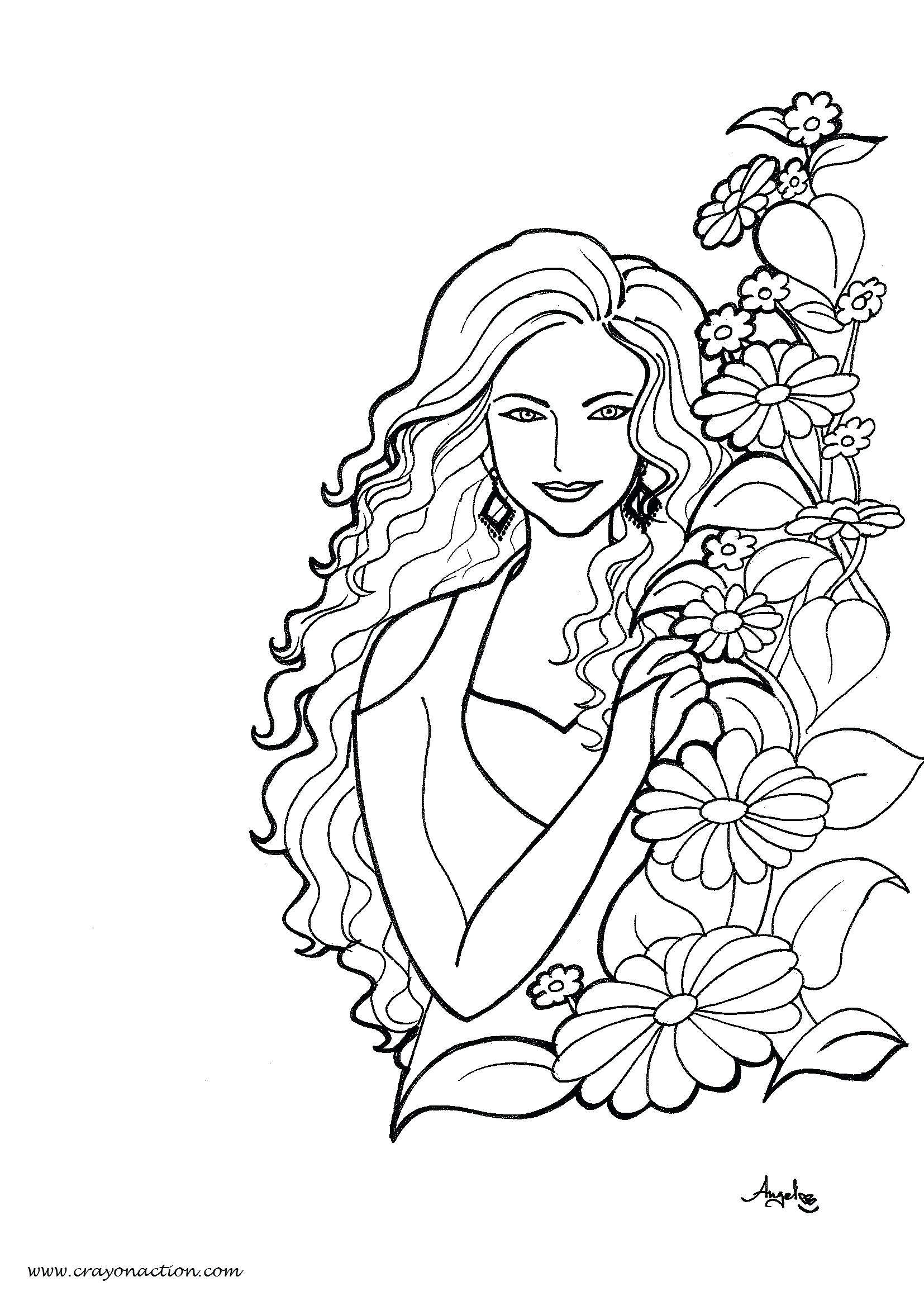 Coloring Pages Women At Getdrawings Com Free For Personal Use