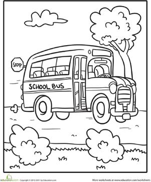 301x363 School Bus Worksheet
