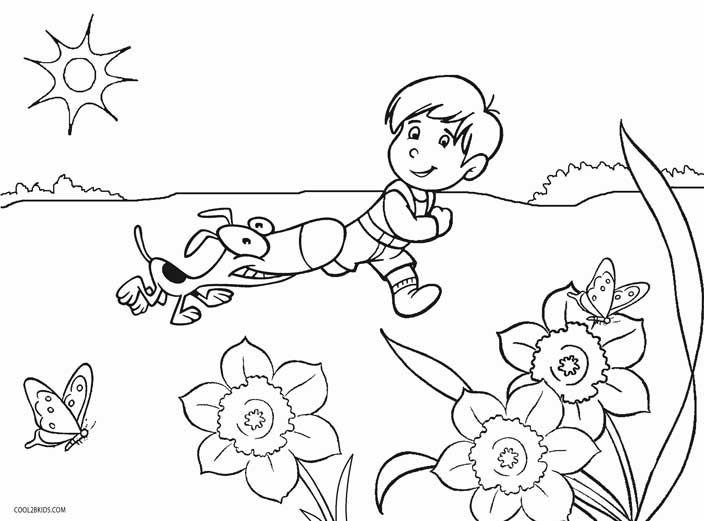 704x521 Printable Kindergarten Coloring Pages For Kids