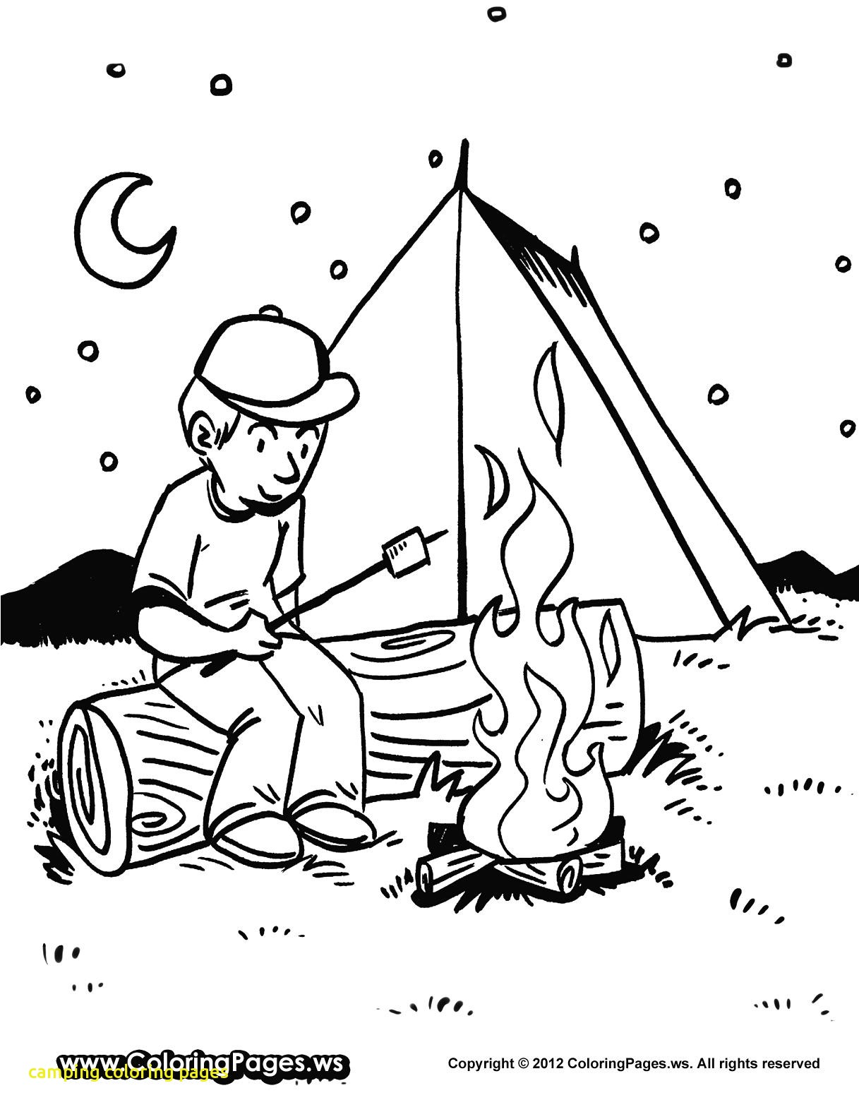 1217x1575 Camping Coloring Pages Camping Coloring Pages With Camping