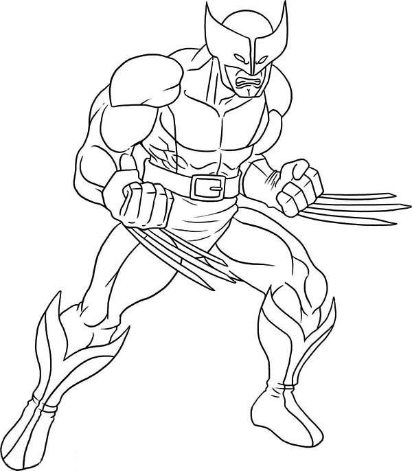 600x686 Wolverine Coloring Sheets X Men Wolverine Coloring Page Coloring