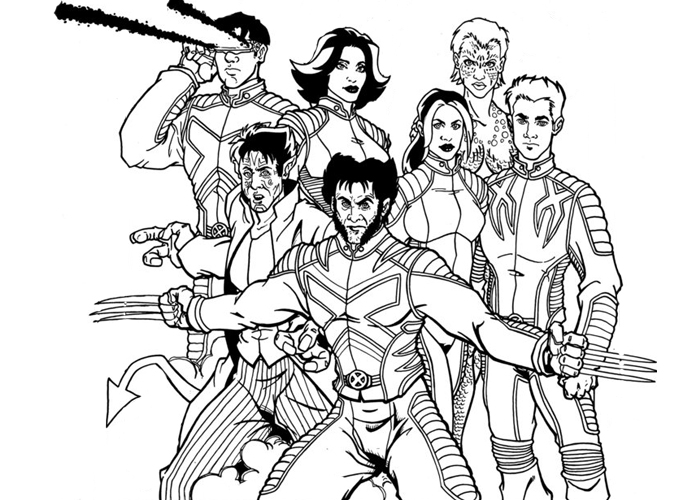 700x500 X Men Characters Coloring Pages