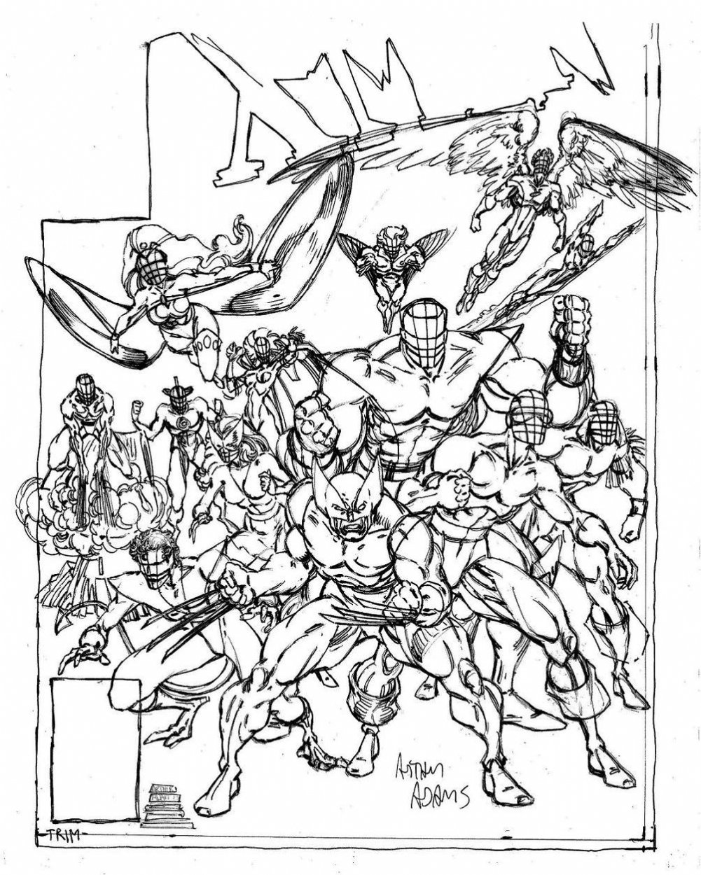 1001x1250 Download Coloring Pages X Men In Ahmedmagdy X Men Coloring Pages