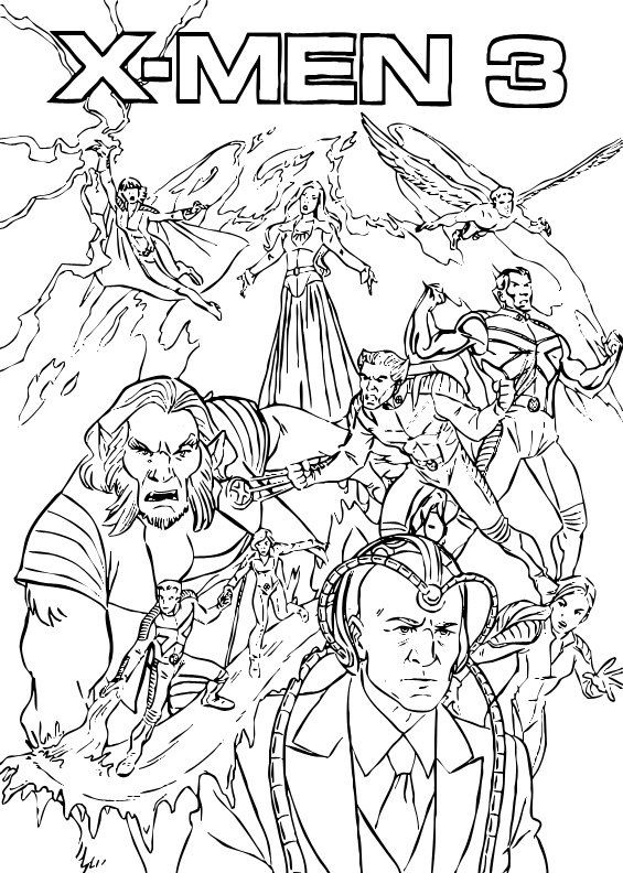 565x792 X Men Coloring Pages X Men Coloring Pages Hellokids Download