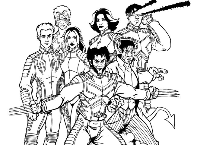 653x481 Xmen Coloring Pages Free Coloring Page Outstanding X Men Coloring