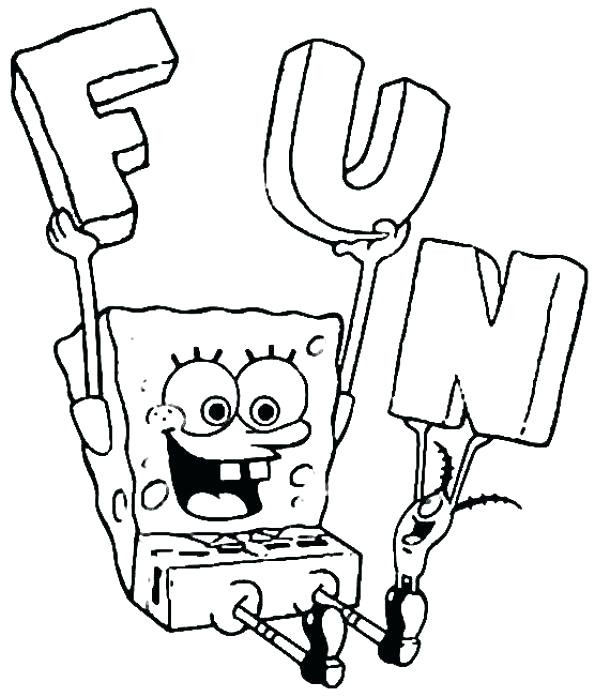 594x696 Sponge Bob Coloring Page Color Page Coloring Pages That You Can