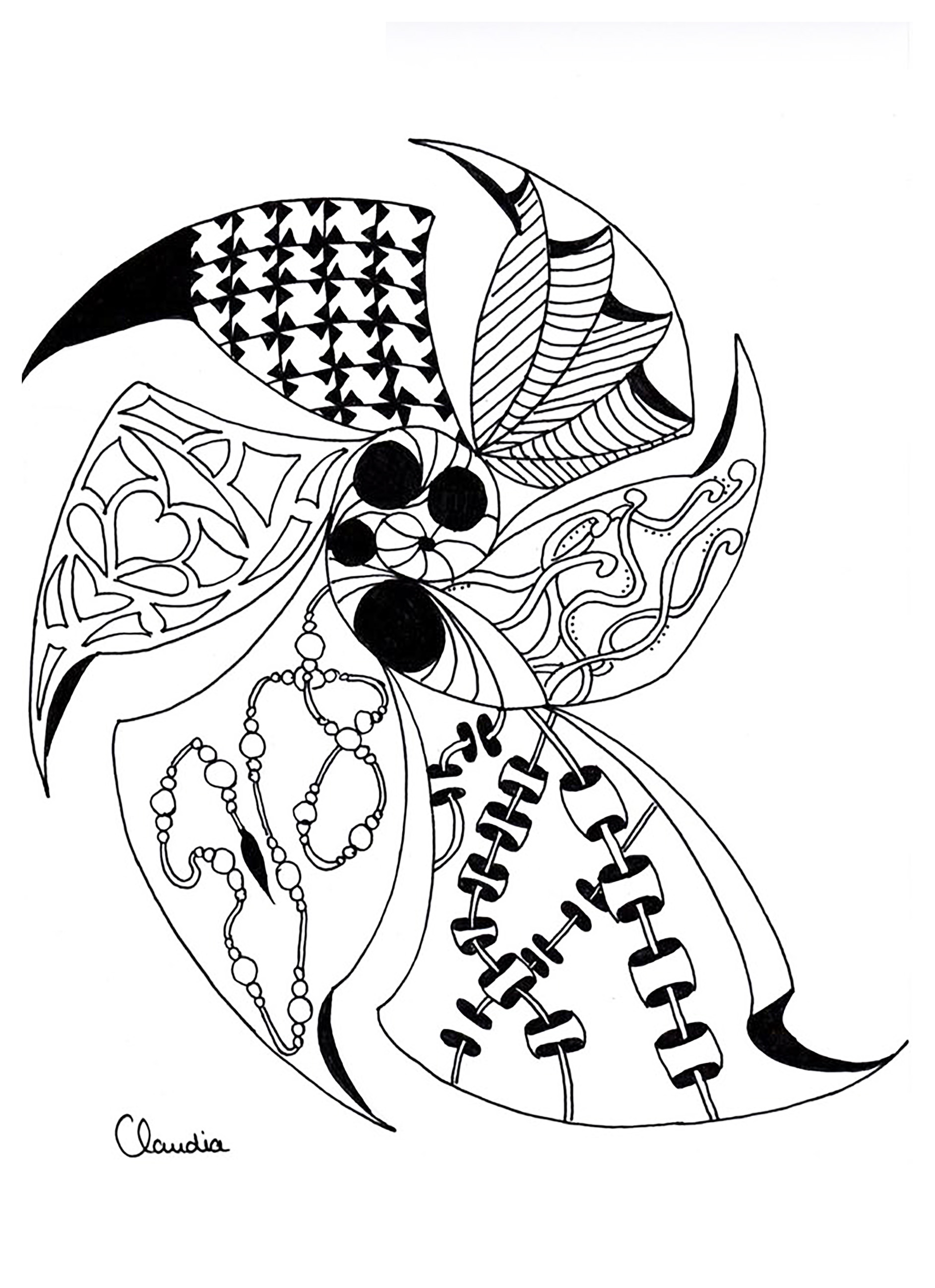 1885x2597 Zentangle To Download Zentangle