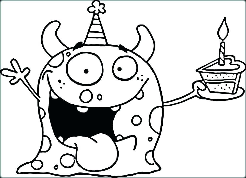 1024x741 Kindergarten Color Pages Kindergarten Coloring Pages Sea Monster