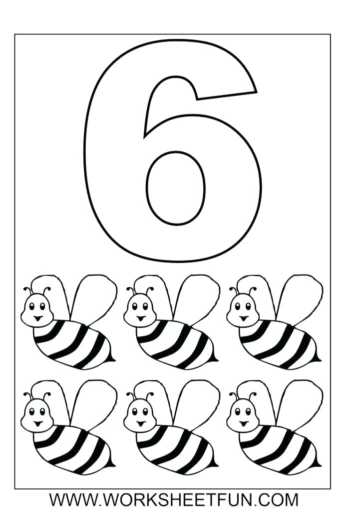 691x1024 Numbers Coloring Pages Preschool Color For Preschoolers Number