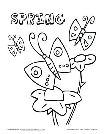 350x453 Spring Coloring Pages Preschool Color Pages For Preschoolers