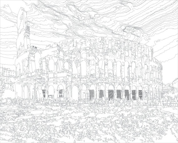 Colosseum Coloring Page