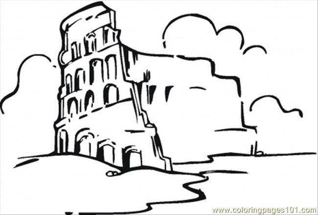 650x441 Colosseum In The Clouds Coloring Page