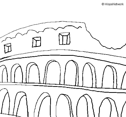 505x470 Colosseum Coloring Page