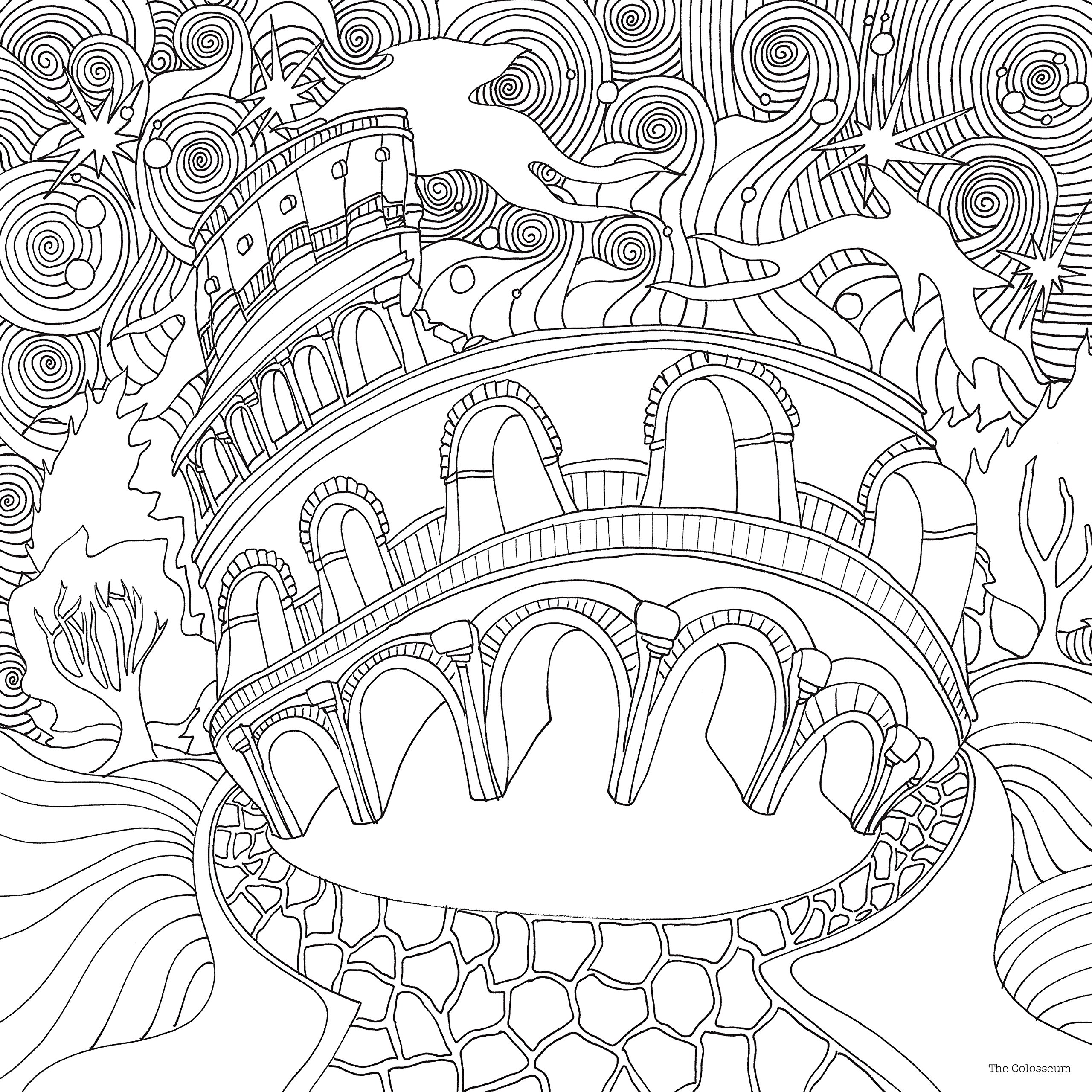 2560x2560 Wonderful Just Add Magic Coloring Pages Amazon