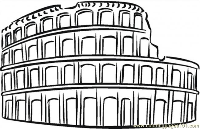 650x420 Colosseum Coloring Page