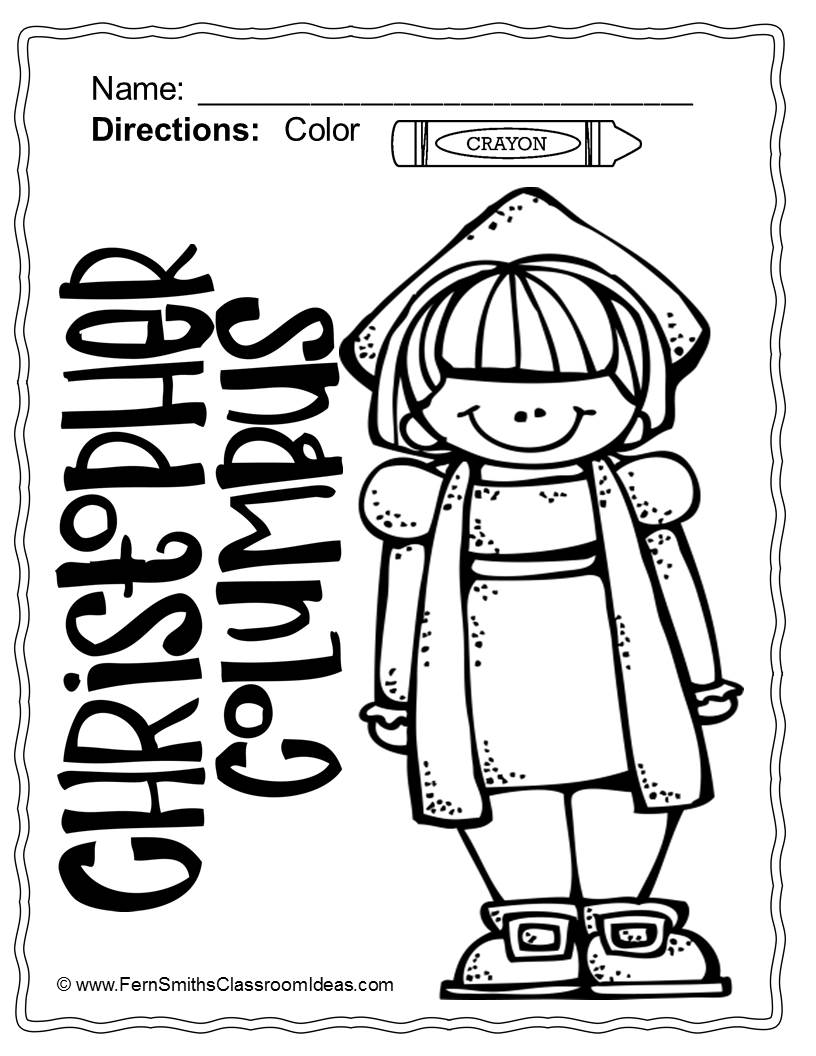 Columbus Day Coloring Pages Printable At Getdrawings Com Free For