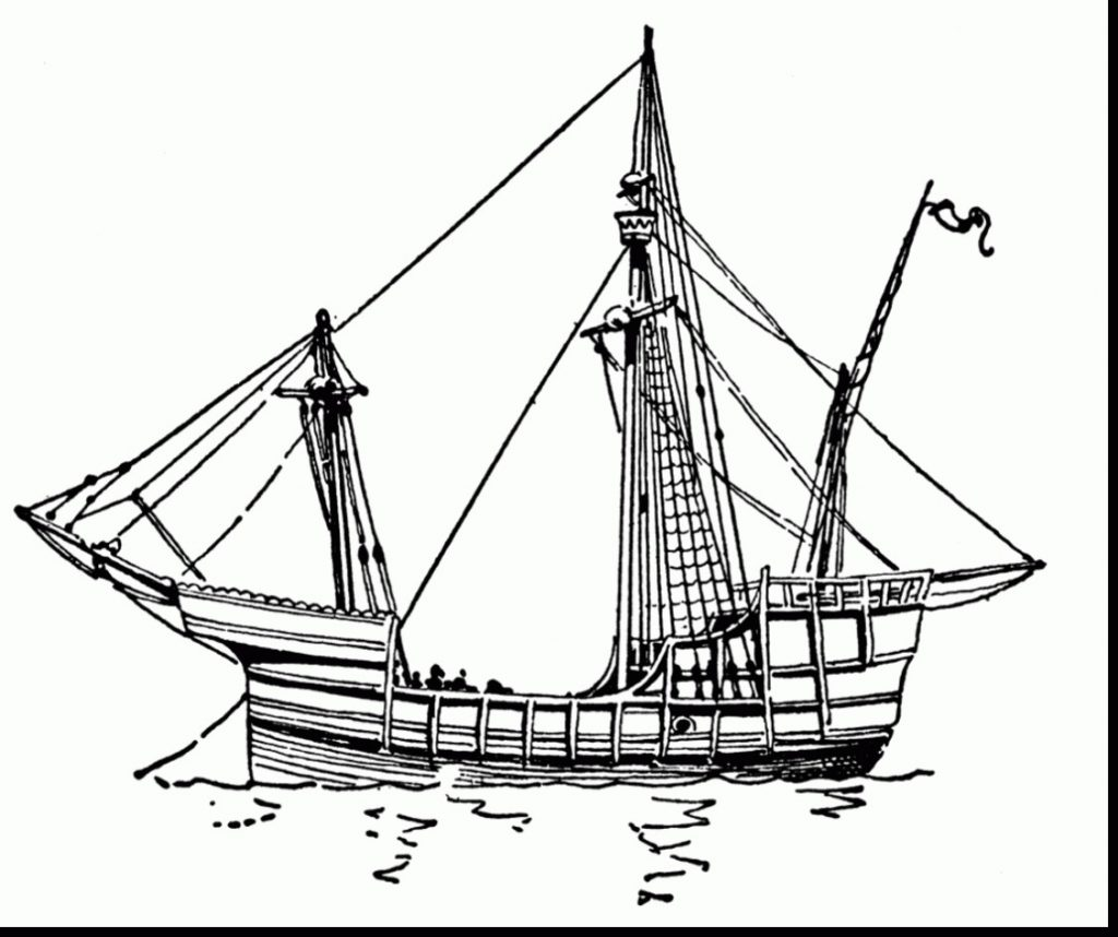 Columbus Ships Coloring Pages at GetDrawings.com | Free for ...