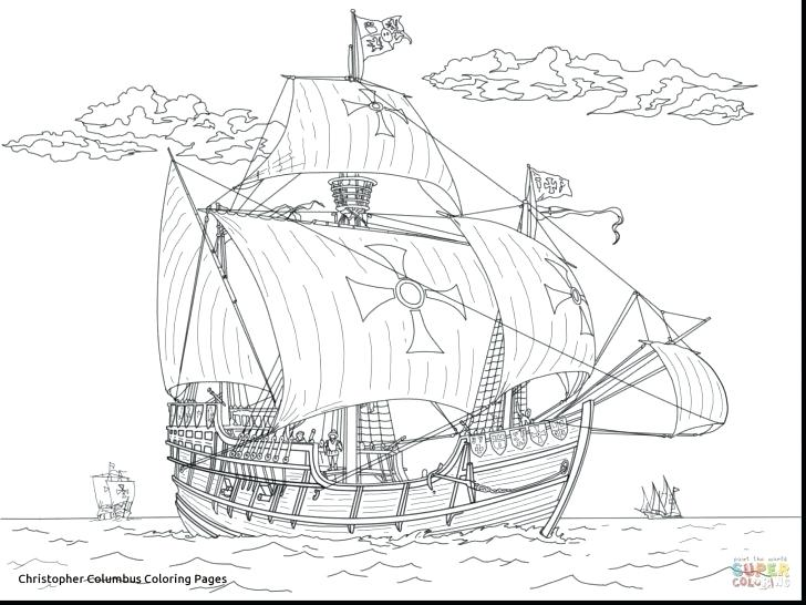 Columbus Ships Coloring Pages At Getdrawings Com