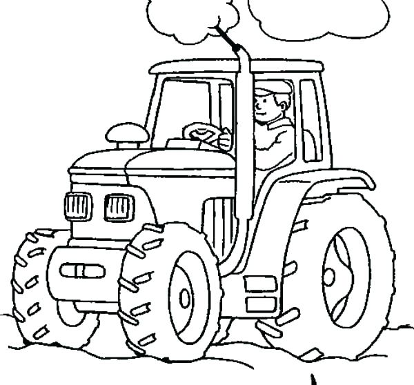 600x558 John Deere Coloring Sheets John Coloring Pages Farm Equipment