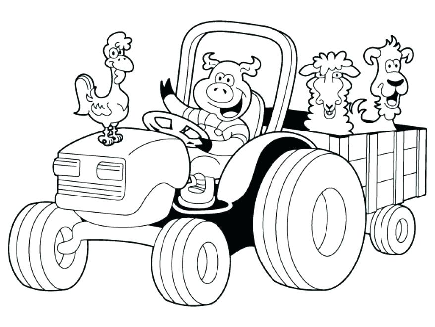 878x659 Combine Coloring Pages Combine Coloring Pages Coloring Tractor