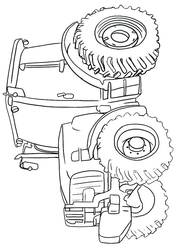 595x842 Combine Coloring Pages Combine Coloring Pages Me Combine Tractor