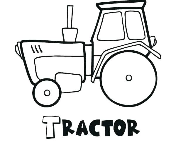 600x492 Classy Tractor Color Pages New John Coloring Page Realistic Classy