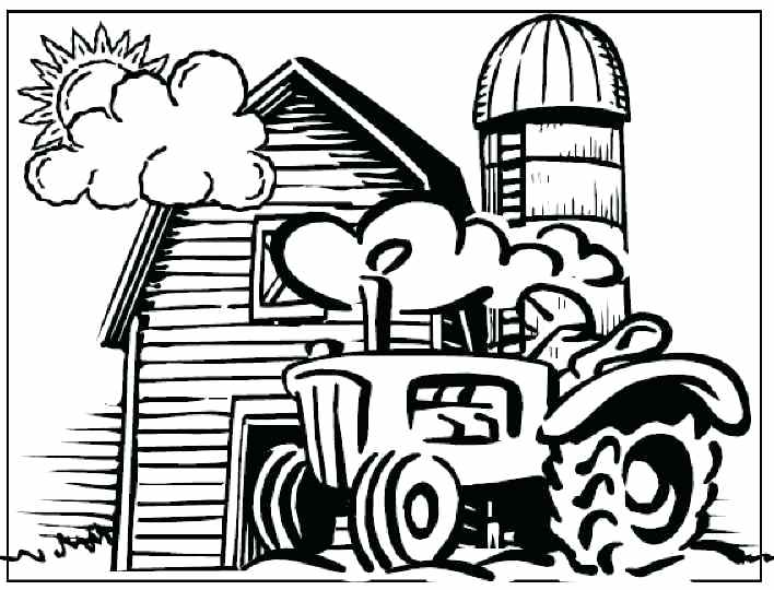708x540 Combine Coloring Pages Tractor Coloring Pages Combine Harvester