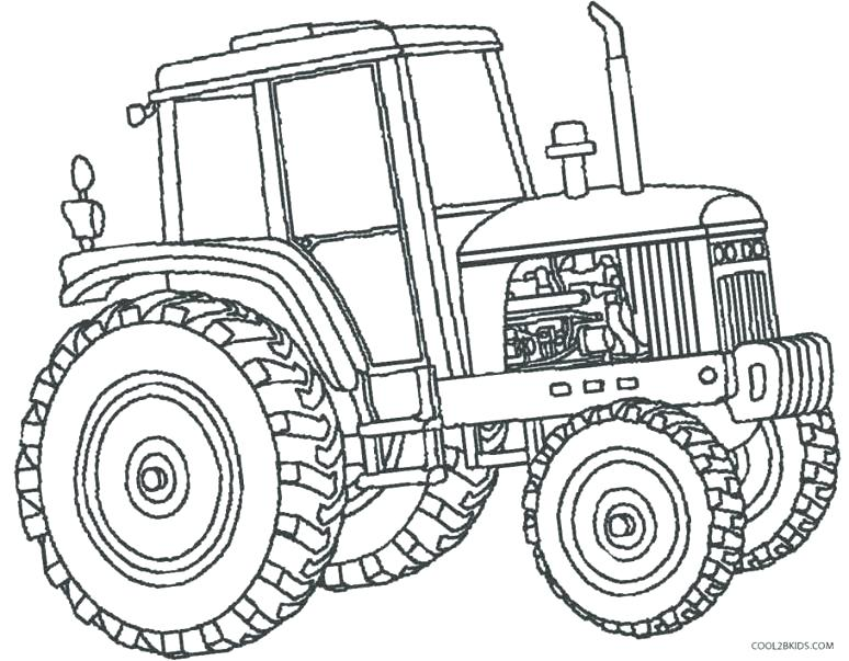 774x603 Combine Coloring Pages Tractor Plowing Farm Coloring Page Combine