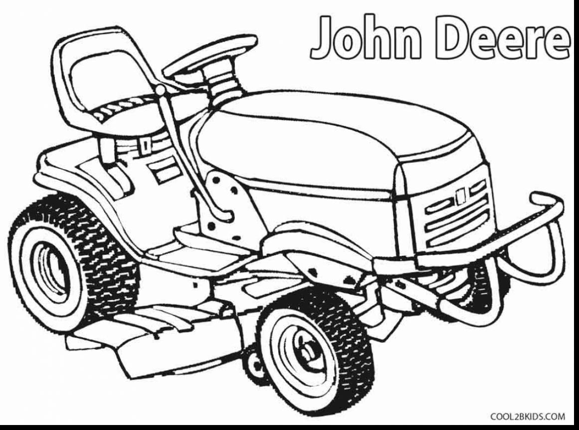 1161x862 Fantastic John Deere Lawn Mower Coloring Page Printable With Pages